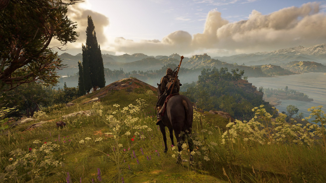 Galloping in the open world.