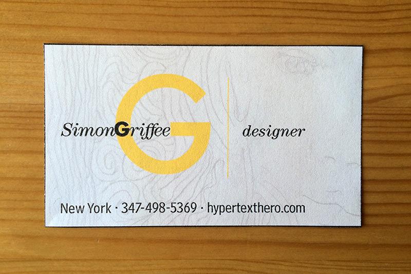 Simon Griffee - Designer. Hypertexthero.com