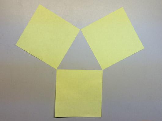 Three post-it notes.