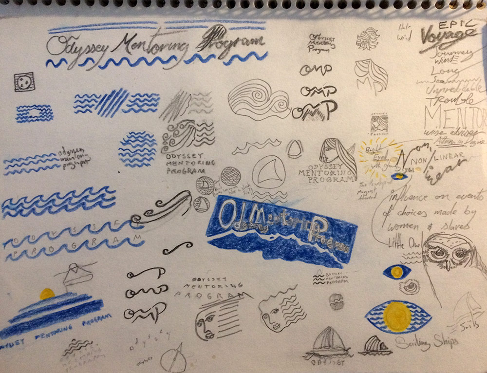 Notebook page drawing.