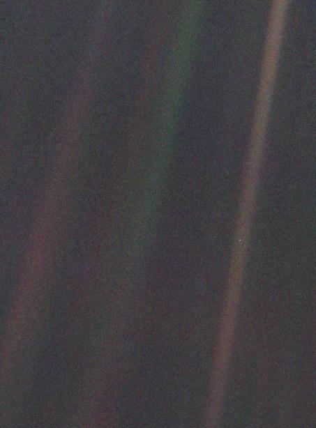 The Pale Blue Dot image.