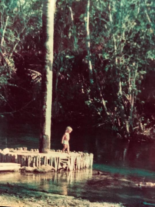 -13.931375, -46.007311, Simon, Rio Arrojado, Bahia, Brazil, c. 1982.