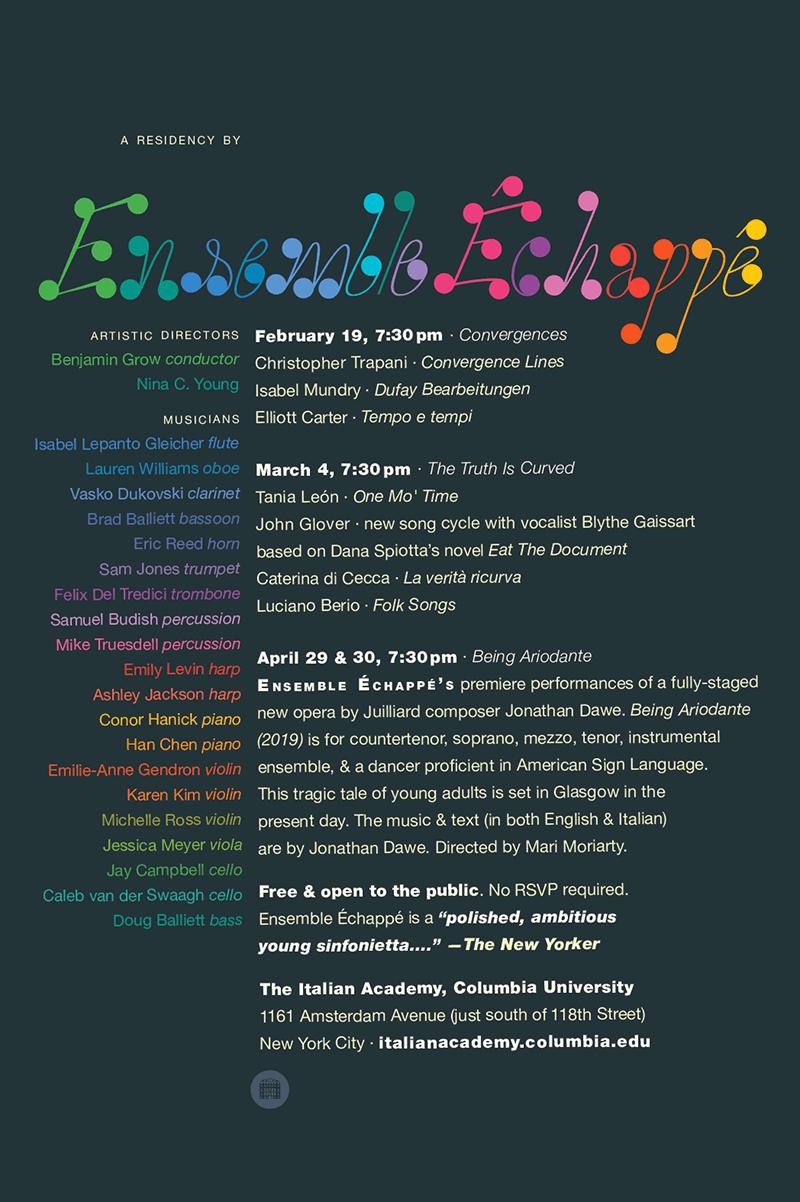 Ensemble Échappé notes design.