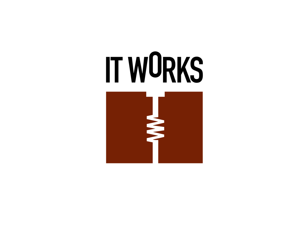 Logotype for IT Works, a small software company with big clients.