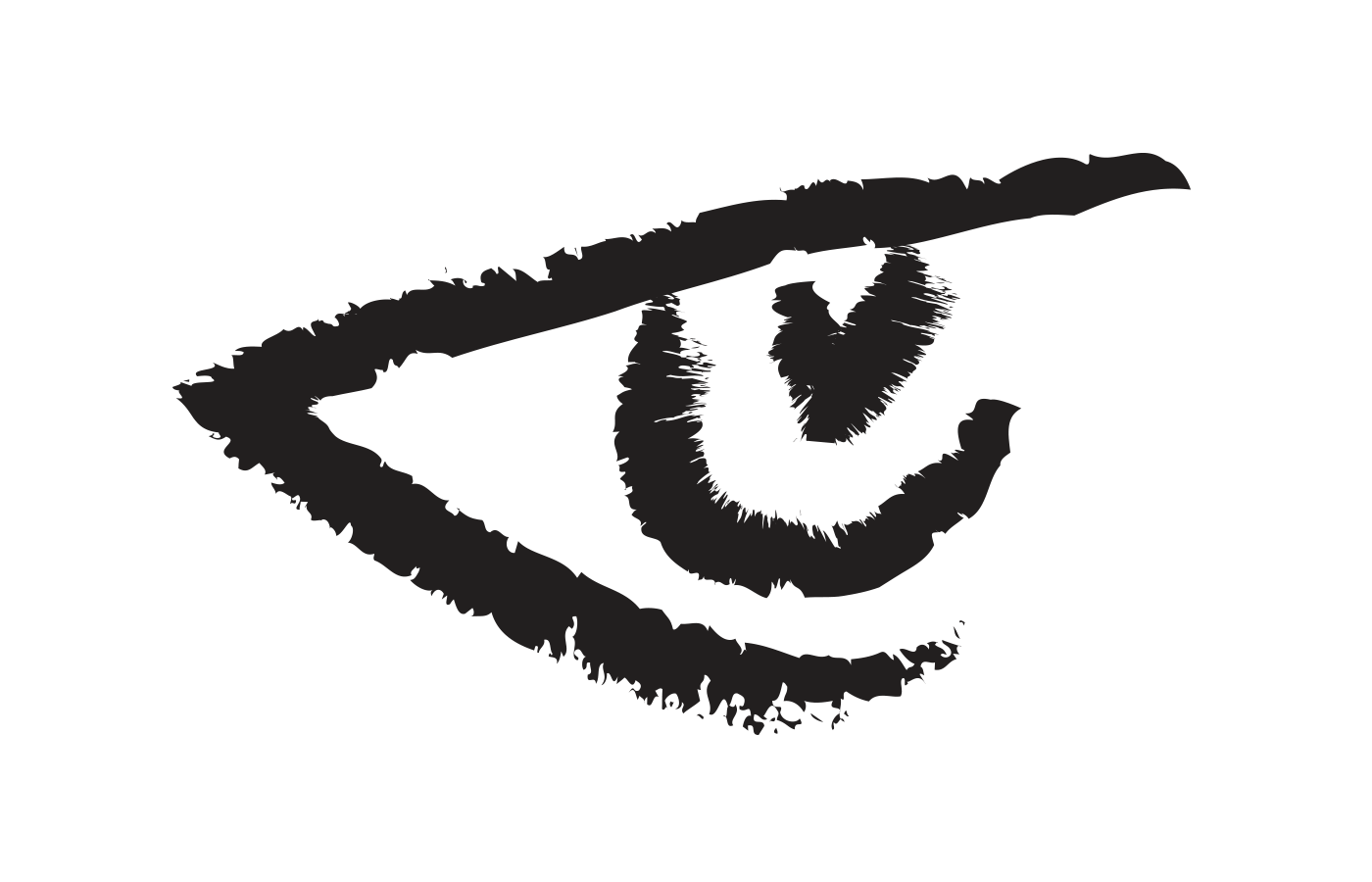 The observer symbol is a stylized profile view of an eye.