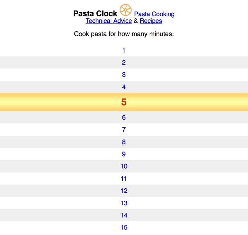 Pasta Clock