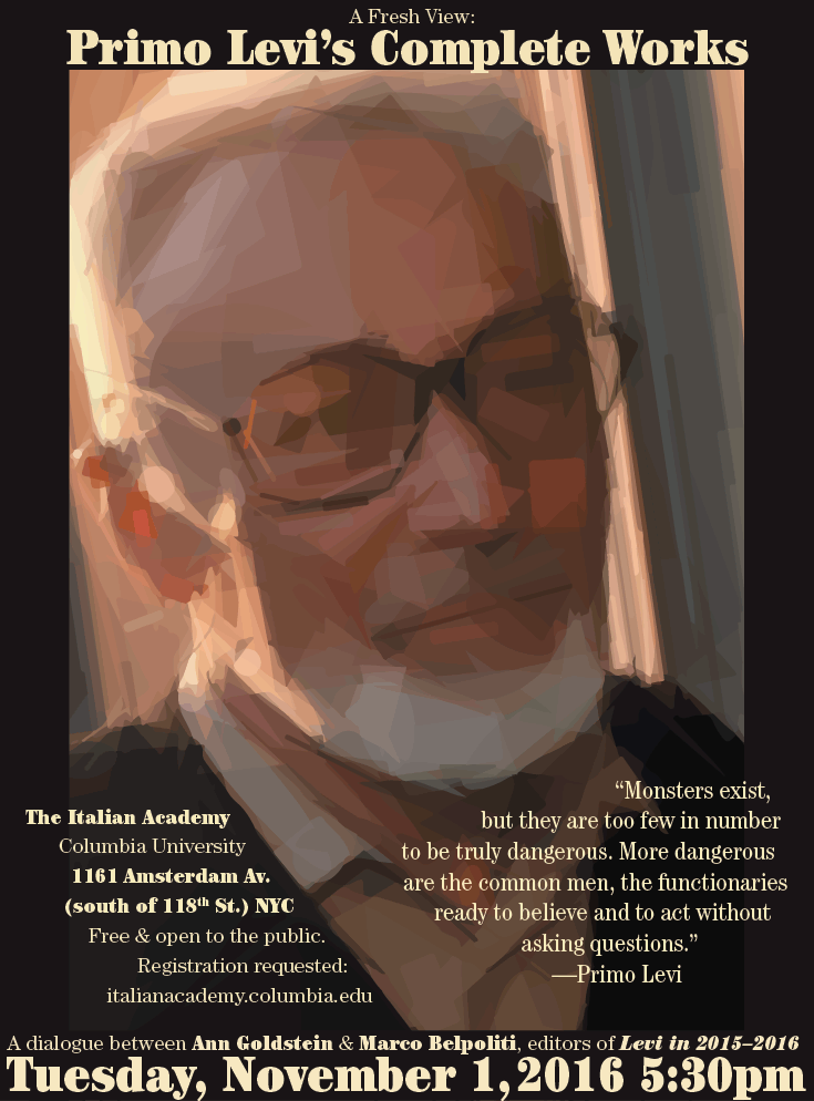 Primo Levi 2016 poster.