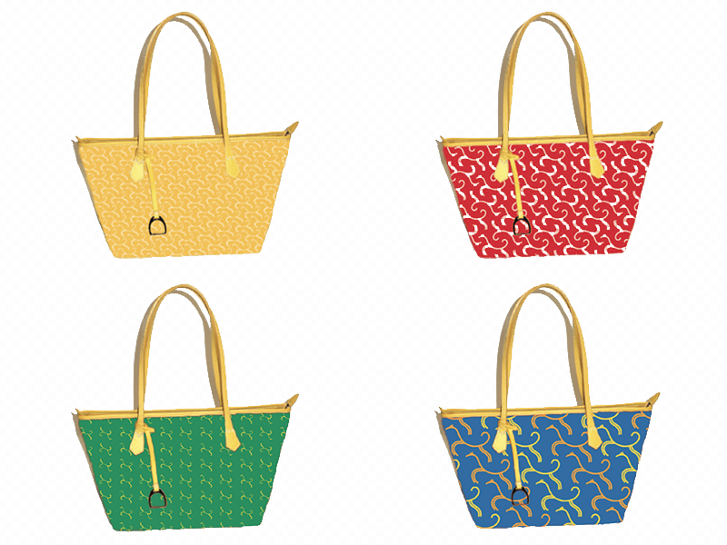 Horse patterns applied to bags.